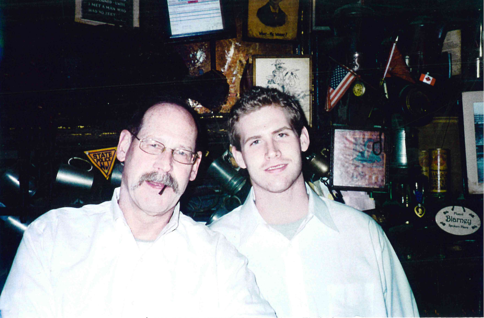 Behind the bar at McSorley's in 2006.
