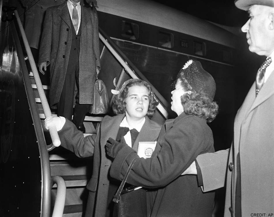 Sally and Ella Horner reunite (credit: Associated Press)