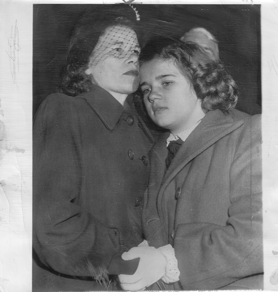 Sally and Ella Horner embrace after being reunited (courtesy of the author)