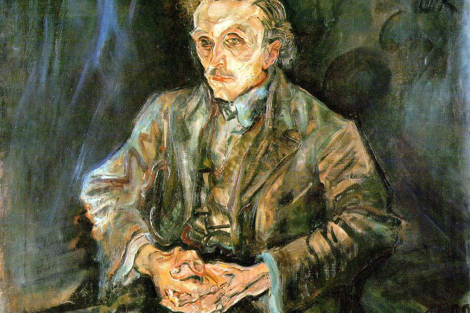 | Portrait of architect Adolf Loos by Oscar Kokoschka