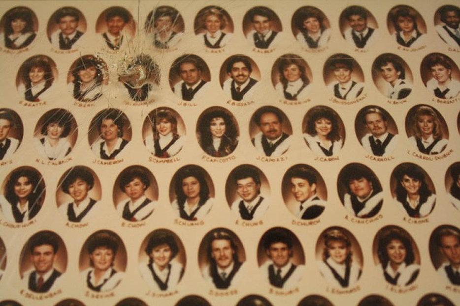 | |Paul Bernardo's vandalized class photo