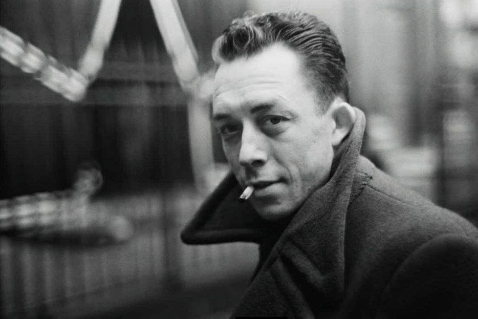  Albert Camus, subject of a biography by Elizabeth Hawes—one that has the benefit of the author's audible heavy breathing.