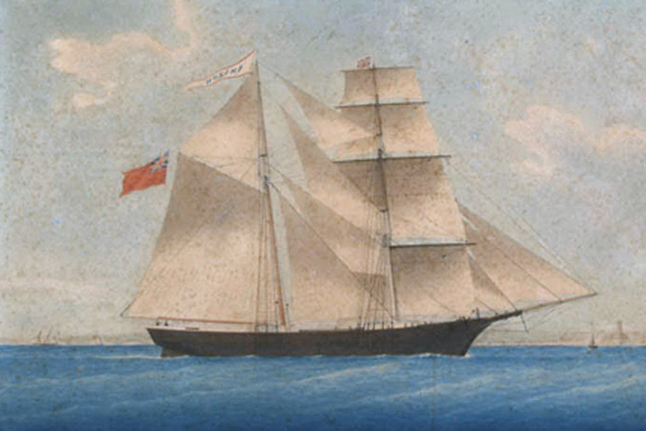 || A painting of Amazon, later named Mary Celeste, from 1861 (via Wikimedia)
