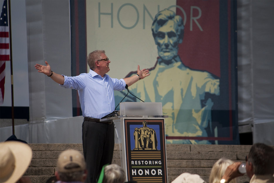 Hunky Glenn Beck at the Restoring Honor rally in 2010