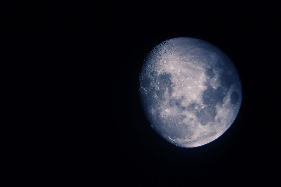    A blue moon, via Flickr user Asher Isbrucker