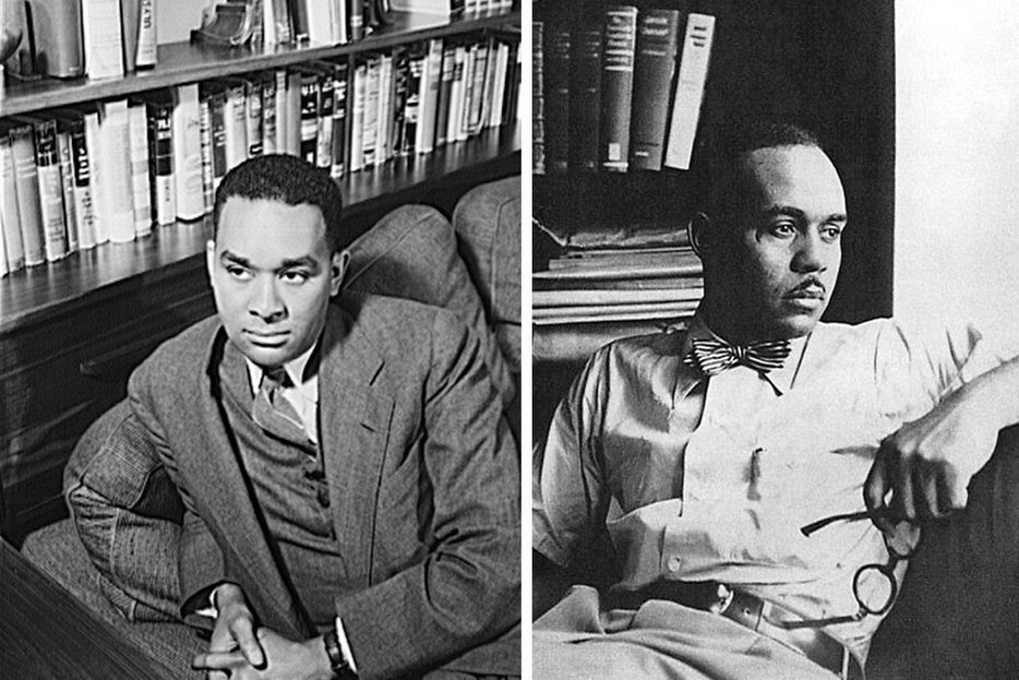 ||Though they later fell out, Richard Wright (left) provided encouragement to a young Ralph Ellison and got him the job that provided much of the material for Invisible Man.