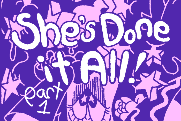 Banner for She's Done it All! Part 1 by Benjamin Urkowitz for Hazlitt