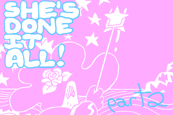Banner for She's Done it All! Part 2 by Benjamin Urkowitz for Hazlitt