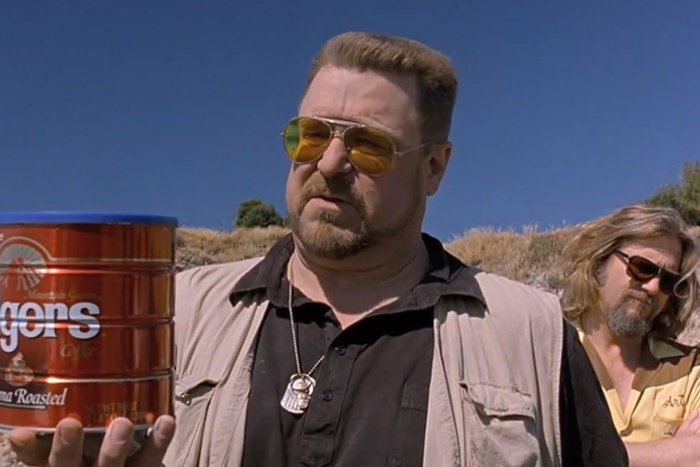 | Donnie's funeral in The Big Lebowski