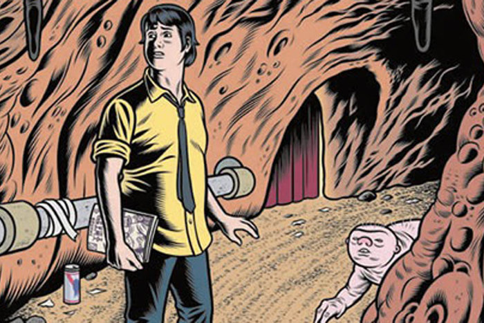 | Image from Charles Burns's latest graphic novel, The Hive.