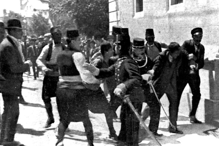 ||The arrest of Gavrilo Princip after the killing of the Archduke Franz Ferdinand