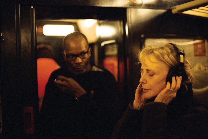 ||Claire Denis on the set of 35 Rhums with Alex Descas