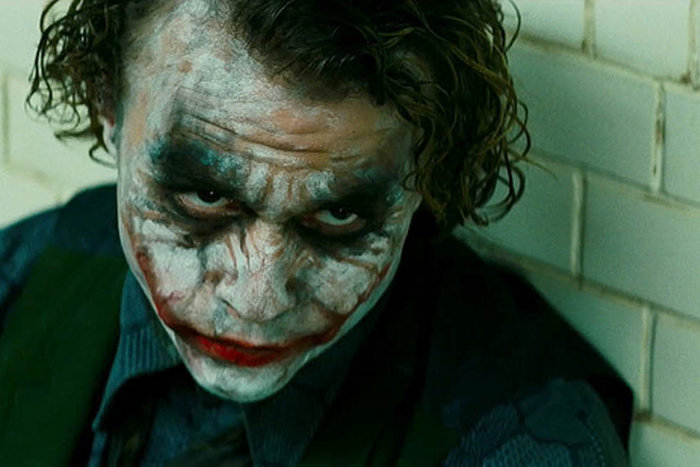 | Heath Ledger as the Joker in The Dark Knight