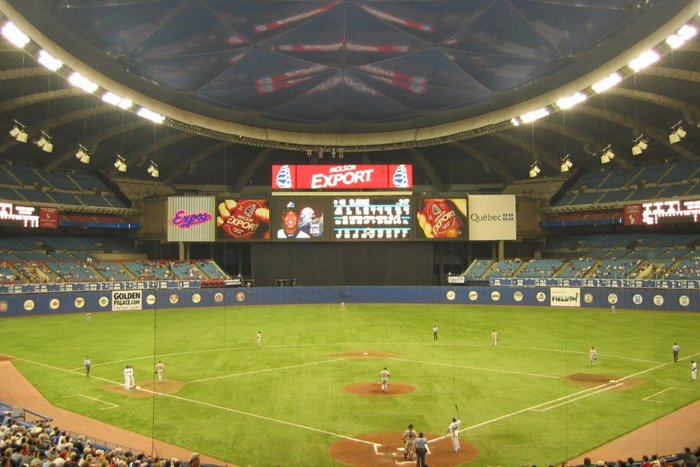    Montreal Expos vs. Houston Astros at the Olympic Stadium, via Flickr user Mike Durkin