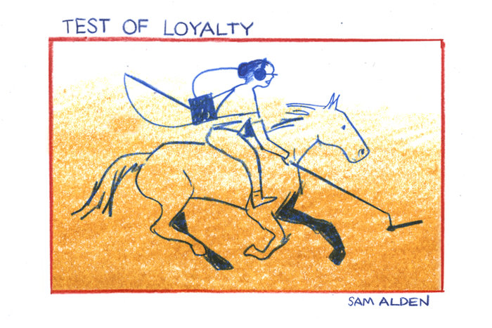 Banner for Test of Loyalty by Sam Alden for Hazlitt