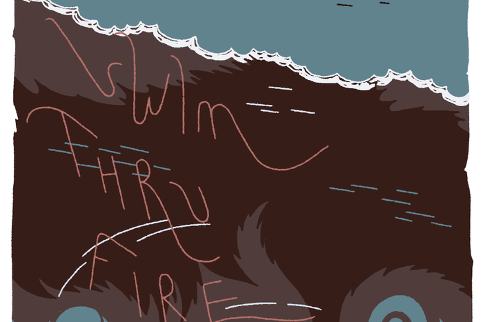 Banner for Swim Thru Fire by Annie Mok and Sophia Foster-Domino for Hazlitt