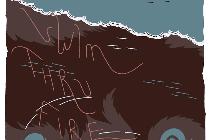 Banner for Swim Thru Fire by Annie Mok and Sophia Foster-Domino for Hazlitt