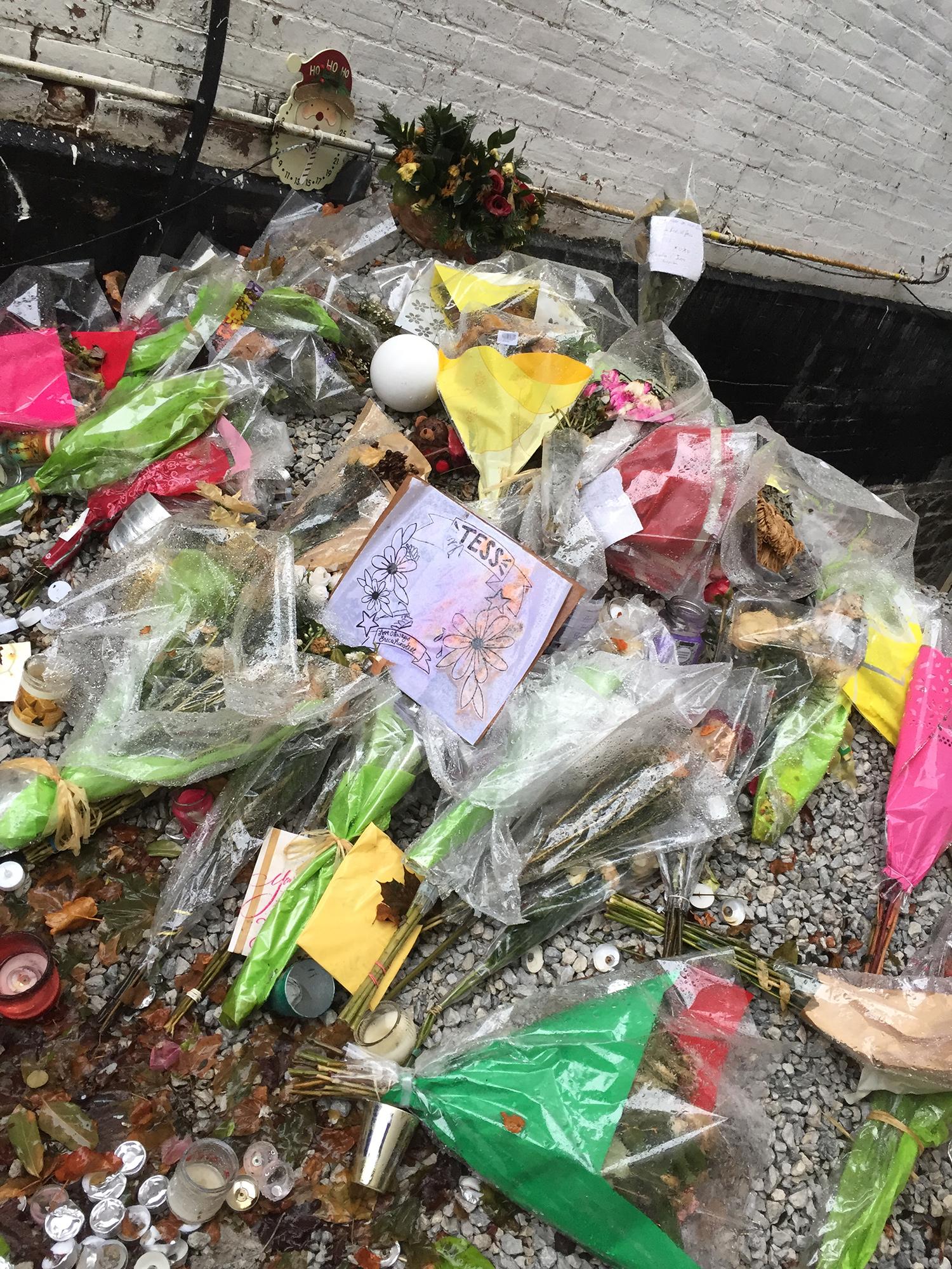 Tess Richey's memorial. (Photo credit: Anthony Oliveira)